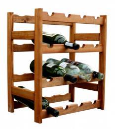 Regál na víno - 16 lahví olše
