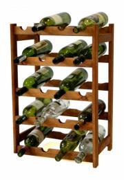 Regál na víno - 20 lahví olše