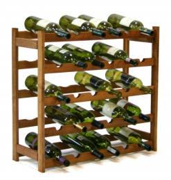 Regál na víno - 30 lahví olše