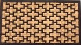 Gumová rohož s kokosovým vláknem 40x70 cm - 380084