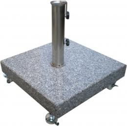 Podstavec ètvercový na sluneèník - 40 kg šedý granit