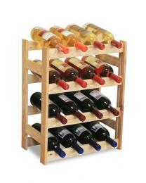 Døevìný regál na víno - 16 lahví