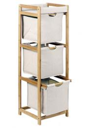 Døevìný bambusový regál - 5 polic - DOPRAVA ZDARMA