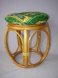 Polstr na ratanovou taburetku zelený - prùmìr 35 cm