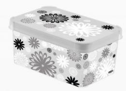 Dekorativní box S MILKY - BLACK DAISY
