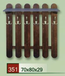 Døevìný vìšák classic 351