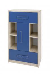 Dìtská komoda se 2 zásuvkami Bregi - modrá