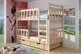 Patrová postel Ilona 80 x 200 cm - masiv borovice