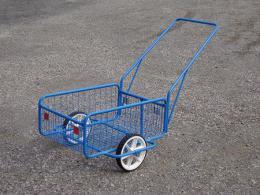 vozík POPULAR III plochá obruè, komaxit, 418x618x232(1220)mm