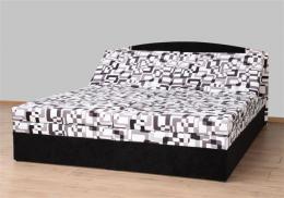 Èalounìná postel Izabela 160 x 200 cm - èerná