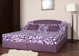 Èalounìná postel Izabela 160 x 200 cm - fialová