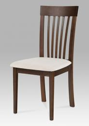 Jídelní židle BC-3950 WAL, barva oøech, potah krémový