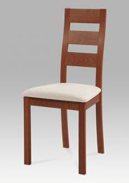Jídelní židle BC-2603 TR3, masiv buk, barva tøešeò, potah béžový