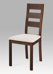Jídelní židle BC-2603 WAL, masiv buk, barva oøech, potah svìtlý