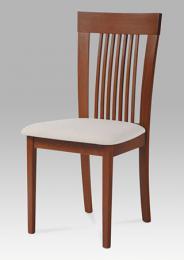 Jídelní židle BC-3940 TR3, barva tøešeò, potah krémový