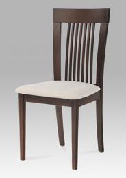 Jídelní židle BC-3940 WAL, barva oøech, potah krémový