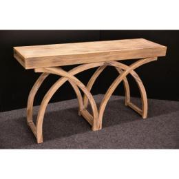 Vingige teakový stolek white 140x39 cm