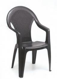 Zahradní plastová židle GIGLIO antracit