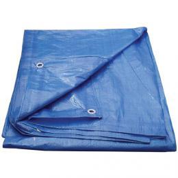 Modrá plachta s oky, rozmìr 4x5 m, 70g/m2