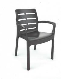 Zahradní plastová židle BORNEO LUX hnìdá