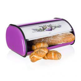 Kovový chlebník LAVENDER 43,5 cm