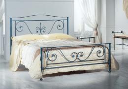 Kovová postel Dagmar 200x200 cm
