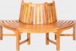 Teaková lavice stromová kulatá 1ks
