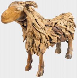 Kozel Jirka z teakového døeva, výška 60 cm