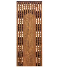 Korálkový závìs s prùchodem  100cm - Tmavý dub - DOPRAVA ZDARMA