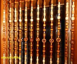Korálkový závìs 100cm - pøírodní + olše - zvìtšit obrázek