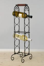 Kovový stojan na víno na 6 lahví