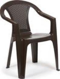 Plastová židle nízká Kora hnìdá