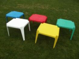 Dìtský plastový stolek modrý