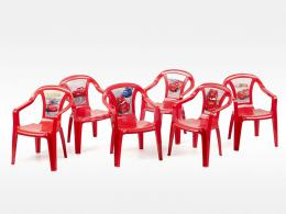 Dìtská plastová  židlièka Cars - èervená
