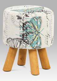 Disignový taburet motýl s døevìnýma nohama