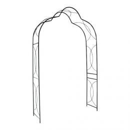 Rùžový oblouk 245x150x45cm - kovový - èerná barva