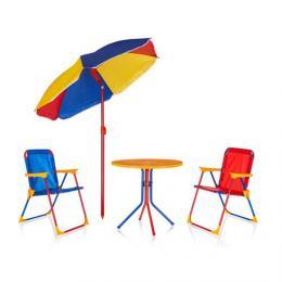 Dìtský zahradní set TIMMY, 2 židle, stolek a sluneèník