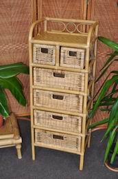 Ratanová komoda 4+2 zásuvky medová
