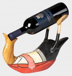 Stojan na víno kachna malovaná