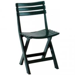 Zahradní plastová židle skládací BIRKI zelená
