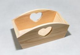 Døevìná krabièka - srdce