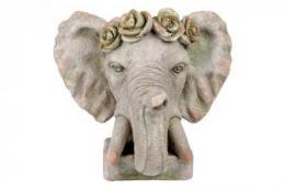 Zahradní dekorace slon - otvor pro kvìtináè