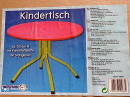 Dìtský stolek kulatý prùmìr 50cm