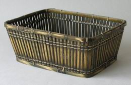 Bambusový košík tmavý L