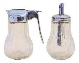 Cukøenka a mlékovka sklo,  9, 8 x 6, 7 cm