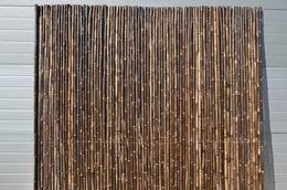 Bambusový plot 2x1,8 m, 18-20 mm natural black