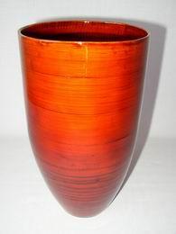 Bambusová váza optima èervená