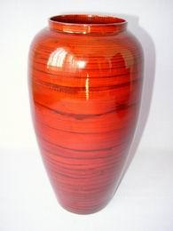 Bambusová váza antik èervená