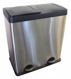 Nerezový koš na tøídìný odpad 2x30l - zvìtšit obrázek