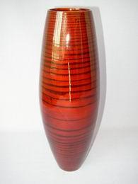Bambusová váza vysoká èervená